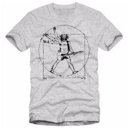 Discount guitar tops - Da Vinci Rock T Shirt Men Casual Hip Hop Music Guitar Heavy Metal Tops Tee Shirts Cotton Harajuku Tshirt Fitness T-shirt