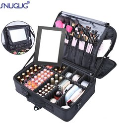 big storage boxes Australia - High Quality Professional Makeup Case Female Beauty Nail Box Cosmetic Case Travel Big Capacity Storage Bag Suitcases For Makeup CY200518
