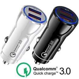 $enCountryForm.capitalKeyWord Australia - Universal Auto Power Adapter Qc3.0 Quick Charging Dual usb ports 3.1A Car Charger For iphone ipad Samsung Tablet pc Mp3 gps