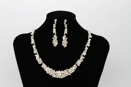 $enCountryForm.capitalKeyWord Australia - New Crystal Bridal Jewelry Set silver plated necklace diamond earrings Wedding jewelry sets for bride Bridesmaids women Bridal Accessories