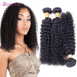 $enCountryForm.capitalKeyWord Australia - Afro Kinky Curly Brazilian Hair Weave Bundles 100% Human Hair Bundles Non Remy Hair Weave Extensions 8 - 30 Inch Bundles
