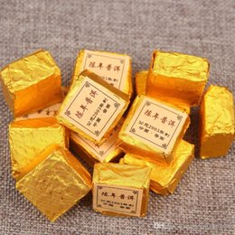 Cloth Cubes Australia - Yunnan Puer tea 200g Menghai small cubes cooked super2003 About 30 particles Send ethnic small cloth bags. Free shipping