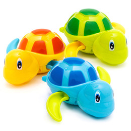 cartoon turtles NZ - 2020 Cute Cartoon Animal Tortoise Classic Baby Water Toy Infant Swim Turtle Wound-up Chain Clockwork Kids Beach Bath Toys