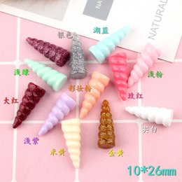 $enCountryForm.capitalKeyWord NZ - Mix 100pcs 10*26mm DIY resin animal Horn charms kawaii cabochon ornament craft pendants decoration fashion jewelry making material