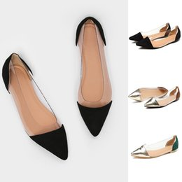 $enCountryForm.capitalKeyWord NZ - 2019 Spring Autumn Women Flats Shoes Casual Single Shoes Women Fashion Slip on Pointed Toe Ballerina Shallow Mouth D25