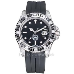 $enCountryForm.capitalKeyWord Australia - Luxury Watch montre de luxe Black Gree Dial Import Rubber Strap Mechanical Automatic Writwatches Mens Designer Watches Auto Date Waterproof