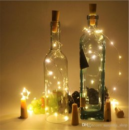 $enCountryForm.capitalKeyWord Australia - Lamp Cork Shaped Bottle Stopper Light Cork2M 20LED Plug Wine Bottle LED Night Lights For Xmas Party Wedding Halloween Decor Best new