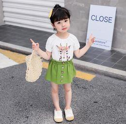 $enCountryForm.capitalKeyWord Australia - Explosion models girls summer girls children's clothing clothes hipster cartoon short-sleeved baby Korean version of the tide fashion skirt