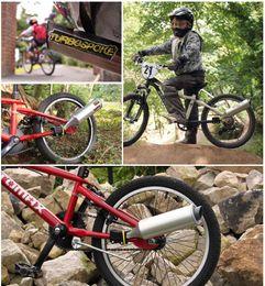 Опт Ирландия Велосипед Air Horn Велосипед Турбина Мотоцикл Выхлопной Звук Велосипедный Ретранслятор с 6 Motorcard Sound Велоспорт DIY Аксессуары