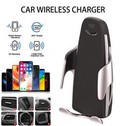 2019 neue 10 watt wireless car ladegerät s5s automatische klemmen schnellladung handyhalter auto air outlet handy qi
