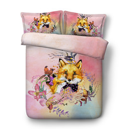$enCountryForm.capitalKeyWord Australia - Animal Fox 1 Duvet Cover With Zipper Closure 2 Pillow Shams NO Comforter 3 Pieces Quilt Comforter Cover Kids Bedding Sets For Boys Girls
