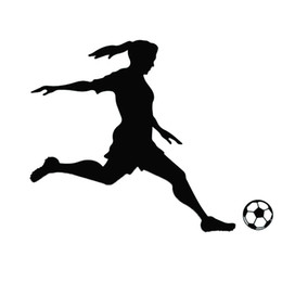 $enCountryForm.capitalKeyWord NZ - Football Soccer Player Girl Woman Vinyl Wall Sticker Decal Sports Mural Decor Wall Stickers Home Decor Living
