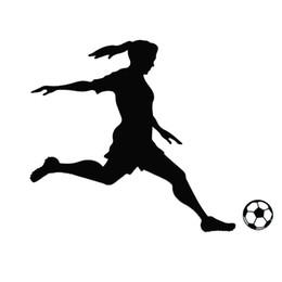 Art Player UK - Football Soccer Player Girl Woman Vinyl Wall Sticker Decal Sports Mural Decor Wall Stickers Home Decor Living