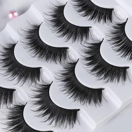 $enCountryForm.capitalKeyWord Australia - 5 Pairs 3D Soft Mink Volume Corner Thick False Eyelashes Full Strip Lashes Handmade Eye Makeup Tools