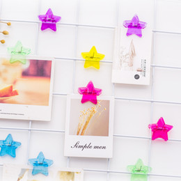 $enCountryForm.capitalKeyWord Australia - Small colorful star Clamp Clips Paper Bookmark Memo Clips photo wall decoration Decorative Photo Folder Information Storage Folder