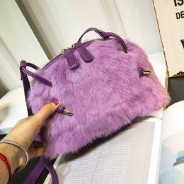 $enCountryForm.capitalKeyWord NZ - Free2019 Woman Hair Rabbit's Package Winter Shell Handbag Women's Singles All-match Shoulder Leather And Fur Messenger Baby Bag Tide