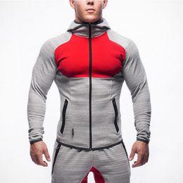 $enCountryForm.capitalKeyWord Australia - Mens Hoodies 2019 Spring New Male Zipper Sweater Sports Fitness Cardigan Casual Outdoor Tops Slim Muscular Man Wearing Fashion Designer Coat