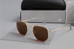 $enCountryForm.capitalKeyWord NZ - hote sale RAY Glass Lens 3548 Wayfarers Sunglasses Men Women Brand Cat Eye Sun Glasses Bands BEN Mirror Gafas de sol BANS with cases