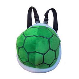Turtle Bags Wholesale UK - Buyuwant Turtle Shell plush backpack Cartoon Children's Bag primary school bag Kindergarten toy BM01-BP-mlamrb