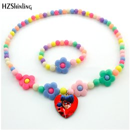 Star Shape glaSSeS online shopping - 2018 New Arrival Pendant Flower Star Beads Necklace Glass Cabochon Heart Shape Necklace Jewelry Gift For Kids