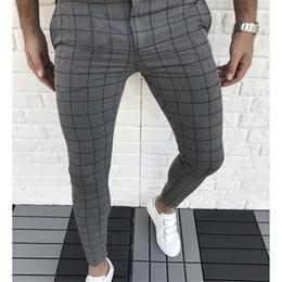 Wholesale capris pants for sale – dress Plaid Panelled Designer Pencil Pants Fashion Natural Color Capris Pants Casual Style Mens Pants Men Clothes