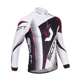 Clothes Worn Mountains Australia - 2018 Pro Team scott Long Sleeve Cycling Jersey Mtb Bicycle Tops Spring Autumn Men Breathable Mountain Bike Wear Cycling Clothing F2802