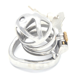 Male Sexy Toys Australia - Male Stainless Steel Chastity Cage Metal Locking Belt Device Newest Magic Locker Penis Cage Sexy Toys for Men G7-242A