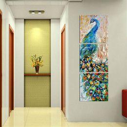 $enCountryForm.capitalKeyWord Australia - Peacock,3 Pieces Home Decor HD Printed Modern Art Painting on Canvas (Unframed Framed)