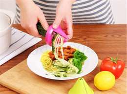 pasta cutters Canada - Gadget Funnel Model Vegetable Shred Spiral Slicer Carrot Radish Cutter Vegetable Spiralizer Grater Kitchen Tool for Pasta Noodle DA211