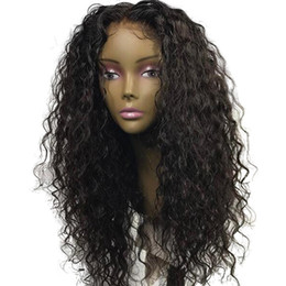 african black hair styles UK - Trending Style For African Americans Water Wave Virgin Indian Human Hair Lace Front Wigs Silk Top Full Lace Wigs For Black Women