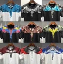 Army tees online shopping - 19SS Marcelo Burlon Top Tees Men Women D Italy RODEO MAGAZINE Marcelo Burlon T Shirt Feather Wings Marcelo Burlon T shirts