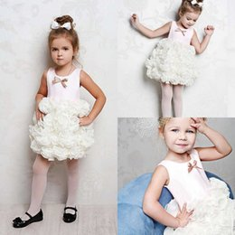 $enCountryForm.capitalKeyWord Australia - Adorable Short Flower Girls Dresses Tiered Tutu Party Toddler Pageant Baby Birthday Gowns Kids First Communion Dress