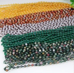 $enCountryForm.capitalKeyWord NZ - Hand-knitted agate necklace rope 8mm chalcedony bead chain knotted line ice color jade line wholesale
