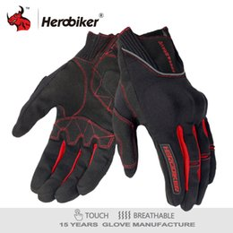 Leather Gloves For Men Australia - HEROBIKER rcycle Moto Protective Gear Full Finger Motocross Guantes Gloves Moto Luvas For Men And Women HEROBIKER Motorcycle Gloves Moto