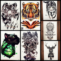 8d2180db0 Forest King of Tiger Temporary Tattoo Stickers For Men Body Art Arm Fake  Flash Black Tattoo Waterproof Beast Fighter Paw Tatoos