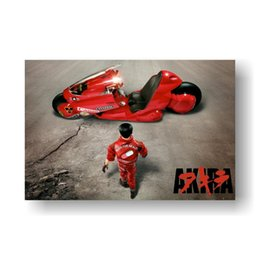 anime room decor 2019 - Akira Poster Red Fighting Anime Movie Painting for Living Room Home Decor Cartoon Fighting Figure cheap anime room decor