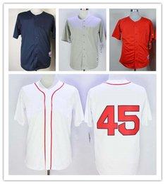 Опт 19 новые взрослые бейсбольные Майки 34 Дэвид Ортиз 26 Уэйд Боггс 48 Пабло Сандовал бейсбол 100% сшитые трикотажные изделия цвет красный серый синий белый