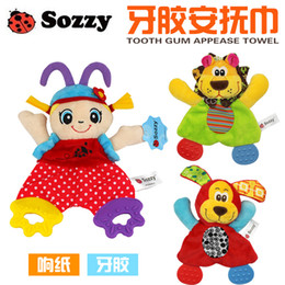 $enCountryForm.capitalKeyWord Australia - Toddler Toys Baby Rattles Mobiles SOZZY 22cm Baby Teether Towel Infant Cute Lion Plush Comfort Sound Paper Dog Soft Appease Stuffed
