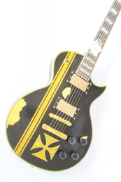 Wholesale Custom Shop best selling High quality black matt top Electric guitar Classic ES guitar free shippin