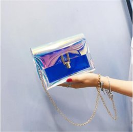 $enCountryForm.capitalKeyWord NZ - Hot sale Women Transparent Bag Clear PVC Jelly Small Tote Messenger Bags Laser Holographic Shoulder Bags Female Lady Sac Femme Bandoulier