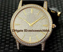 $enCountryForm.capitalKeyWord Australia - New 81579 000G-9274 mens watch Swiss 9015 Automatic 28800 VPH Sapphire Crystal Power reserve 40 hours Full Diamond 18K Gold Case Mens Watch