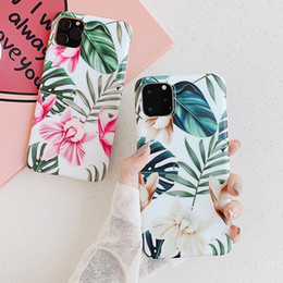 cover flowers NZ - Art Flowers Banana Leaf Phone Case For iPhone 11 Pro Max XS Max XR 6 6S 7 8 Plus X Retro Floral Soft Phone Back Cover