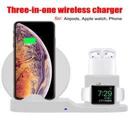 Wholesale 3 in Wireless Charger For IPhone Plus X XS Max XR Wireless Charging Dock Station QI wireless charger For Apple AirPods Apple Watch