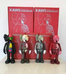 HOT 20CM 0,3 kg Originalfake KAWS Dissected Companion Figura com caixa original 8inch KAWS Action Figure presente decorações modelo crianças em Promoção