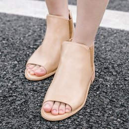 $enCountryForm.capitalKeyWord NZ - Fashion2019 Sandals Woman Rome In Help Degree Of Tightness Hairtail Mouth Shoes Will Code