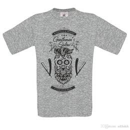 T-Shirt Verão os cavalheiros salão de beleza 2 crânio bigode tatuagem t shirt dtg NOVO DESIGN Anime Casual Roupas em Promoção