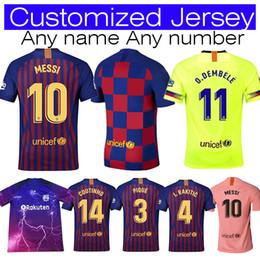 Women football uniform online shopping - 2019 Men Women Kids men Barcelona Soccer Jersey Iniesta Suárez MALCOM Dembele Coutinho Football uniforms shirts Soccer Jerseys