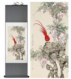 Chinese Floral Paintings Australia - Birds Painting Home Office Decoration Chinese Scroll Painting Birds Painting