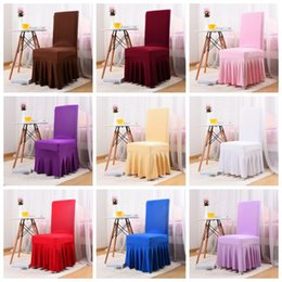 universal banquet chair covers Australia - Universal Stretch Polyester Wedding Party Spandex Chair Covers for Weddings Banquet Hotel Decoration Decor suit for all chairs