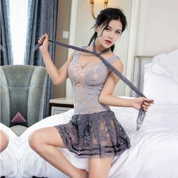 Vente en gros Fille Femmes Sexy Jupes Courte Mini Jupe Adulte Maille Jupe Une Pièce Tentation Erotique Lingerie Couple Passionné Outils Produits Pour Adultes